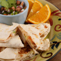Smoked Bangus Quesadilla With Tomato Salsa